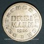 Coins Allemagne. République de Weimar. 3 mark 1924D