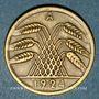 Coins Allemagne. République de Weimar. 50 rentenpfennig 1924A