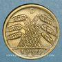 Coins Allemagne. République de Weimar. 50 rentenpfennig 1924D