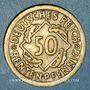 Coins Allemagne. République de Weimar. 50 rentenpfennig 1924F