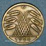 Coins Allemagne. République de Weimar. 50 rentenpfennig 1924G
