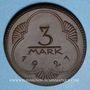 Coins Altenburg. Stadt. 3 mark 1921. Porcelaine