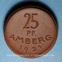 Coins Amberg. Stadt. 25 pfennig 1921. Porcelaine