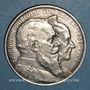 Coins Bade. Frédéric I, grand-duc (1856-1907). 5 mark 1906. Noces d'or