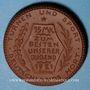 Coins Berlin. Deutscher Reichsausschuss für Leibesübungen. 15 mark 1921. Porcelaine