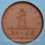 Coins Chemnitz. Denkmalspende Regiment 104. Médaille (1922). Porcelaine