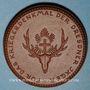 Coins Dresde. Für das Kriegerdenkmal der Dresdner Jäger. Médaille. Porcelaine