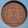Coins Dresde. J.D.A. Deutsche Erden. Médaille 1922. Porcelaine