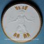Coins Dresde. Jahresschau Deutscher Arbeit Deutsche Erden. Médaille 1922. Porcelaine