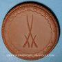 Coins Dresde. Riedel und Engelmann. Médaille (1921). Porcelaine