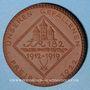 Coins Freiberg. Unseren Gefallen. Médaille 1922. Porcelaine. 41,68 mm