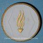 Coins Meissen. Feuerbestattungsverein. Médaille 1921. Porcelaine. 38,70 mm