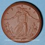 Coins Meissen. Krieger Gedächtnis Stätte. Médaille 1923. Porcelaine. 41,42 mm. N° 7560