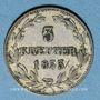 Coins Nassau. Guillaume (1816-1839). 3 kreuzer 1833