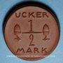 Coins Prenzlau. Ucker. 1/2 mark. Porcelaine