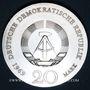 Coins République Démocratique allemande, 20 mark 1969, 220e anniversaire de la naissance de Goethe