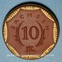 Coins Saxe. 10 mark 1921. Porcelaine