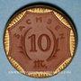 Coins Saxe. 10 mark 1921. Porcelaine