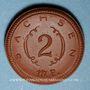 Coins Saxe. 2 mark 1921. Porcelaine