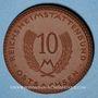 Coins Saxe Orientale. Reichsheimstättenbund. 10 mark 1921. Porcelaine