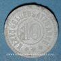 Coins Selb (Bavière) - Rosenthal. 10 pfennig. Porcelaine