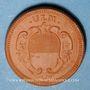 Coins Ulm. 1 kreutzer (1773).  Réédition historique en majolique