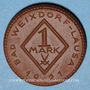 Coins Weixdorf (Dresde). Bad Weixdorf-Lausa. 1 mark 1921. Porcelaine