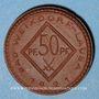 Coins Weixdorf (Dresde). Bad Weixdorf-Lausa. 50 pfennig 1921. Porcelaine