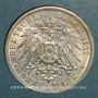 Coins Wurtemberg. Guillaume II (1891-1918). 3 mark 1911F