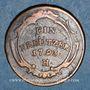 Coins Allemagne. Possessions autrichiennes. François II (1792-1805). 1 kreuzer 1793H. Hall