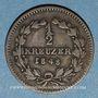 Coins Bade. Charles Léopold Frédéric (1830-1852). 1/2 kreuzer 1848