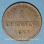 Coins Bavière. Maximilien II Joseph (1848-64). 1 pfennig 1861