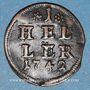 Coins Brandebourg-Bayreuth. Frédéric (1735-1763). 1 heller 1742
