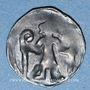 Coins Brandebourg. Margraviat. Louis VI le Romain et Othon le Paresseux (1352-1365). Denier, vers 1363-65