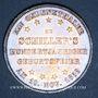 Coins Francfort. Ville. Taler 1859. 100e anniversaire d la naissance de Schiller
