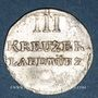 Coins Löwenstein-Wertheim-Rochefort. Dominique Constantin (1789-1806). 3 kreuzer 1804. Wertheim