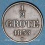 Coins Oldenbourg. Nicolas Frédéric Pierre (1853-1900). 1/2 grote 1853B