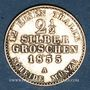 Coins Prusse. Frédéric Guillaume IV (1840-1861). 2 1/2 silbergroschen 1855A