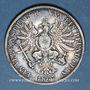 Coins Prusse. Guillaume I (1861-1888). Taler 1867A. Tête de Guillaume I regravée avec un chapeau...