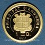 Coins Andorre. Principauté. 1 diner 2011. Napoléon Bonaparte. (PTL 999‰. 0,5 g)