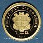 Coins Andorre. Principauté. 1 diner 2011. Napoléon Bonaparte. (PTL 999/1000. 0,5 g)