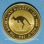 Coins Australie. Elisabeth II (1952- ). 100 dollars 1990. Red kangaroo. (PTL 999‰. 31,10 g)