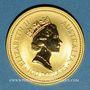 Coins Australie. Elisabeth II (1952- ). 100 dollars 1992. Common Wallaroo. (PTL 999‰. 31,10 g)
