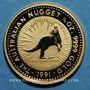 Coins Australie. Elisabeth II (1952 --). 15 dollars 1991. Grey kangaroo. (PTL 999‰. 3,11 g)