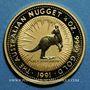 Coins Australie. Elisabeth II (1952- ). 25 dollars 1991. Grey kangaroo. (PTL 999‰. 7,75 g)
