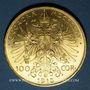 Coins Autriche. François Joseph (1848-1916). 100 couronnes 1915. Refrappe. 900 /1000. 33,87 gr