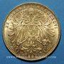 Coins Autriche. François Joseph (1848-1916). 20 couronnes 1896. (PTL 900‰. 6,78 g)