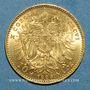 Coins Autriche. François Joseph I (1848-1916). 10 couronnes 1896. (PTL 900‰. 3,39 g)