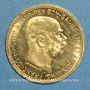 Coins Autriche. François Joseph I (1848-1916). 10 couronnes 1911. (PTL 900 /1000. 3,39 gr)