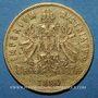 Coins Autriche. François Joseph I (1848-1916). 8 florins / 20 francs 1880. (PTL 900‰. 6,45 g)